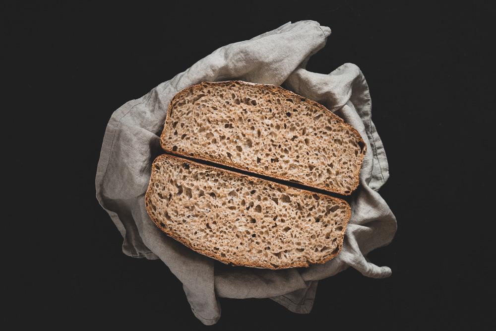 Dinkel Weizenbrot ohne Roggen. 1-2-3 fertig